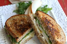 Grilled Cheese Sandwich with Brie, Pear & Hazelnuts. For people who want to eat grilled cheese all classy-like.
