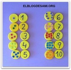 ELBLOGDESAMI.ORG-TAPONES-OPERACIONES Preschool Learning Activities, Montessori Activities, Infant Activities, Kindergarten Math, Preschool Activities, Numbers Preschool, Math Numbers, Math For Kids, Crafts For Kids