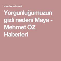 Yorgunluğumuzun gizli nedeni Maya - Mehmet ÖZ Haberleri