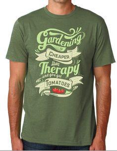 "T-shirt - ""Gardening Is Cheaper Than Therapy"" Unisex T-Shirt (Organic Cotton)"