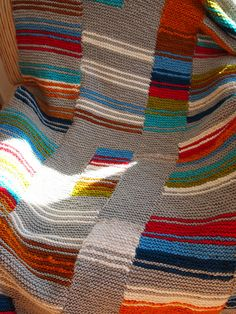 Knitting inspiration - garter stitch blanket.