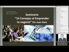 """Seminario digital: """"14 consejos al emprender tu negocio"""" por Juan Haro."""