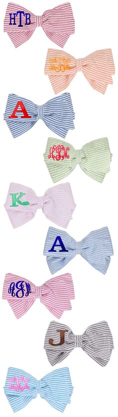 Monogrammed Hairbow from Marleylilly.com