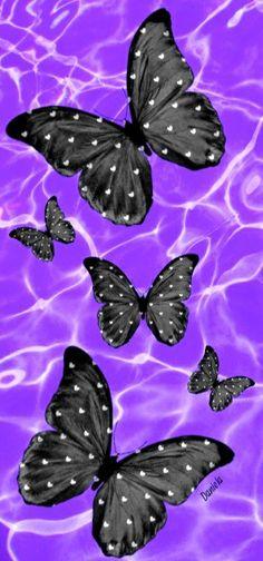 Wallpaper Backgrounds, Iphone Wallpaper, Wallpapers, Happy New Year Pictures, Butterfly Wallpaper, Beautiful Butterflies, Pattern Wallpaper, Watercolor, Plants