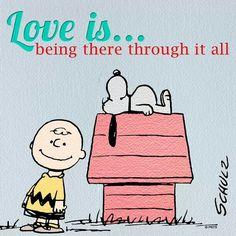 Love is...... Charlie Brown & Snoopy