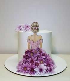 Elegant Birthday Cakes, Beautiful Birthday Cakes, Birthday Cakes For Women, Birthday Cake Girls, Girly Cakes, Cute Cakes, Yummy Cakes, Beautiful Cake Designs, Beautiful Cakes