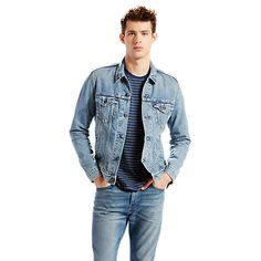 Buy Levi's The Trucker Denim Jacket, Icy Online at johnlewis.com