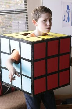 http://tipsalud.com Rubik's Cube | 17 Cute, Quick, And Cheap DIY Halloween Costumes For Kids