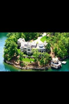 Nick Saban's lake-front estate in the north Georgia mountains with its three-story lighthouse and custom boat house. The home is northeast of Atlanta on Lake Burton The property was originally listed at million dollars. Haus Am See, Nick Saban, Million Dollar Homes, Celebrity Houses, My Dream Home, Dream Homes, Dream Life, Estate Homes, Curb Appeal