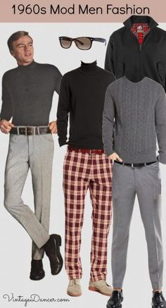 Late 1960s Mod men's style fashion clothing at VintageDancer.com/1960s