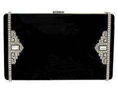 Exceptional Cartier Art Deco Enamel and Diamond Box  #504783