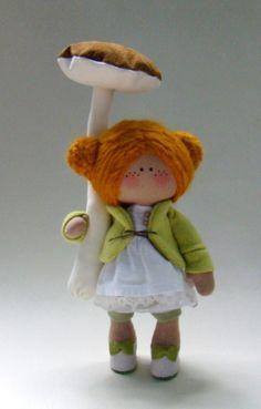 Торопыжка с подберезовиком). #handmade #toy #doll