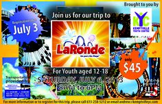 Here it is .. all the details for our Trip to LaRonde on July 6th! Print, Share and make sure everyone knows.