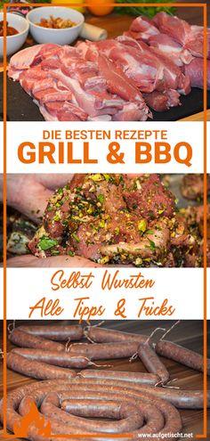 Hast du dir schon mal überlegt die dazugehörige Bratwurst selbst zu machen? Wenn dich das Thema Wursten interessiert haben wir hier einige Tipps Bbq Grill, Grilling, Outdoor Cooking, International Recipes, Creative Food, Pulled Pork, Delish, Beef, Dinner