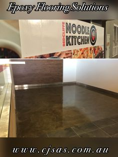 """www.cjsas.com.au 0407655010  Commercial install @  Wok Me Noodle Bar, Redcliffe. Cut and coat technique using epoxy products creating a hardwearing, industrial look"""" that is very in vogue at the moment.  #Brisbane #Brisbaneretail #Retail #Retailflooring #flooring #epoxy #Brisbaneepoxyflooring #Commercialflooring #Queenslandepoxy #Brisbaneepoxy #Maroons #Qldstateoforigin #queenslander #Epoxyresin #Brisbaneproperty #Realestatebrisbane #Brisbanerealestate #wokme"""