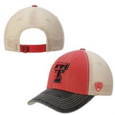 3b549450c60 Size is a One Size Fits All Embroidered on the front is a Texas Tech Red  Raiders logo. Top Quality Worn Out Style Adjustable Snapback Mesh Hat Cap.