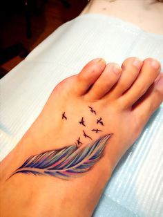My renewed feather and birds tattoo