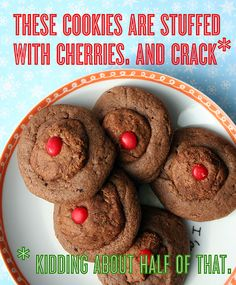 Chocolate Cherry Cookies - CakeSpy