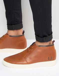 Shop Fred Perry Shields Mid Leather Trainers at ASOS. Men's Shoes, Shoe Boots, Shoe Bag, Foot Pads, Leather Trainers, Fred Perry, Shoes Online, Chelsea Boots, Casual Shoes