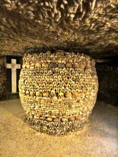 The Parisian Catacombs, Paris, France. One of The 13 Scariest Places on Earth. Paris Travel, France Travel, Scary Places, Places To See, The Catacombs, Empire, Visit France, Paris Ville, Momento Mori