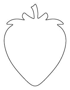 Use the printable outline for crafts, creating stencils… Strawberry Crafts, Strawberry Art, Toddler Crafts, Crafts For Kids, Arts And Crafts, Paper Crafts, Free Stencils, Fruit Of The Spirit, Gifts For Office