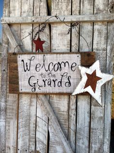Personalized Rustic Reclaimed Wood Welcome Sign, via Etsy.