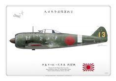 """Nakajima Ki-44-I """"Tojo"""" Imperial Japanese Army Burma early 1944 ."""