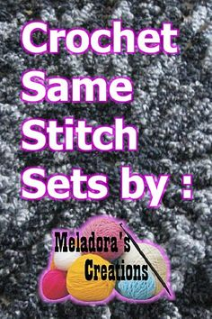 Crochet Sets – Free Crochet Patterns I have many crochet sets that use the same stitch. I have shared them from time to time as a set but never like this in a whole combination of sets. I do this to make it easy for you to find all the parts …