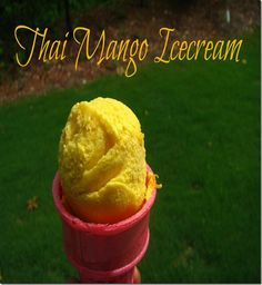 Thai mango ice cream