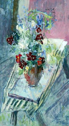 Margaret Thomas – Gilly Flowers, c.1972; Oil on canvas, 81x45.5 cm   Williamson Art Gallery & Museum