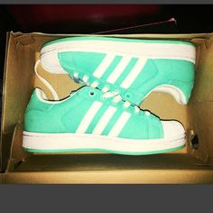 MINT GREEN ADIDAS Sorry ladies. Had on good sale for a while. Price back up because these are even more gorgeous in person! They are limited edition! Size 6 but run big! Would fit 6.5-7! These are super cute I wore a few time but you'd never know! Normal wear on inside but other then that these are MINT CONDITION Adidas Shoes Sneakers