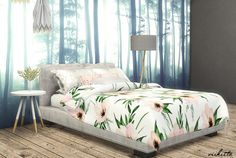Floral Pillows and Duvet Covers by viikiita