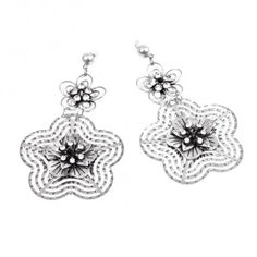 AryA Italian Jewels - Women Burnished Earrings with Swarovski Crystal - Orecchini Donna Bruniti con Strass Swarovski