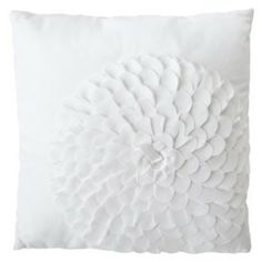 Xhilaration® Flower Decorative Pillow - White