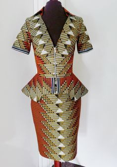 0f86a3019e6 Schona Tribal Print African Wax Suit