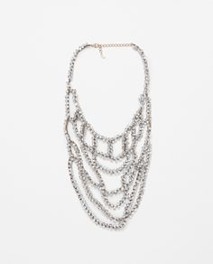 LONG NECKLACE WITH TRANSPARENT CRYSTALS - Accessories - WOMAN | ZARA United States