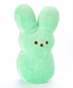 302342bef5be9 Look at this Green Peeps Bunny Medium Plush Toy on  zulily today! Easter  Peeps