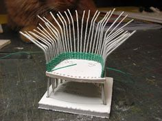 I love to weave.  I have made full-sized baskets to miniature baskets.  I think it's relaxing to weave.  Weaving miniature furniture is a...