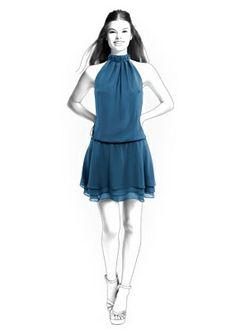 Lekala 4256 - Robe Patron de Couture PDF a Téléchargér, Modification Sur Mesure Gratuite Royalty Free à Usage Personnel ou Commercial