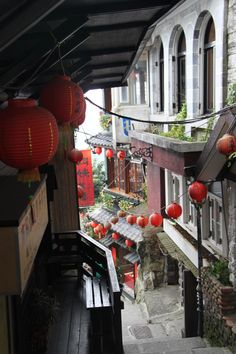 Streets of Jiufen ~ a mountain area in the Ruifang District of New Taipei City near Keelung, Taiwan
