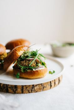 Try this delicious recipe for Sprouted Quinoa & Ramp Sliders with Garlicky Cucumber Slaw from Dolly and Oatmeal!