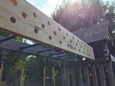 Top Gym Workouts for American Ninja Warrior Competitors Like Jessie Graff attached diy pegboard Backyard Gym, Backyard Obstacle Course, Backyard Playground, Backyard For Kids, Kids Ninja Warrior, America Ninja Warrior, Ninja Warrior Course, Guerrero Ninja, Ninja Training