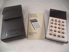 Vtg Rockwell Calculator w/ Case & Manual 21R Serial # 234393