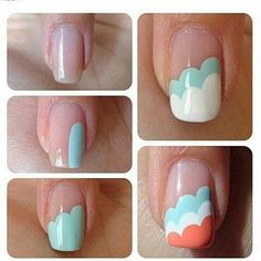 Cute nail art. And it looks super easy too!