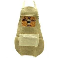 Soft Jute Apron - BBQ King