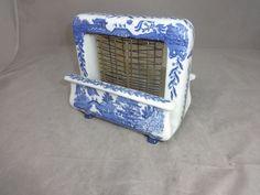 blue willow porcelain toastrite toaster