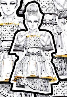Mary Katrantzou-inspired Artwork