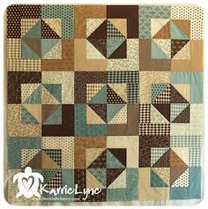 Blue and brown quilt- not so much the color, but the pattern.
