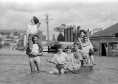 NO ONE had ever seen a flood like faster, powerful, and more deadly than any other deluge in the region's history. History Teachers, Local History, Historical Pictures, Byron Bay, Tasmania, Colleges, Gold Coast, Rivers, Libraries