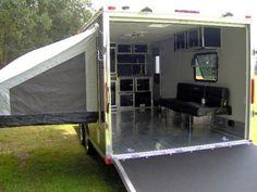 Enclosed Cargo Trailer Camper Conversion Bing Images 2Compact